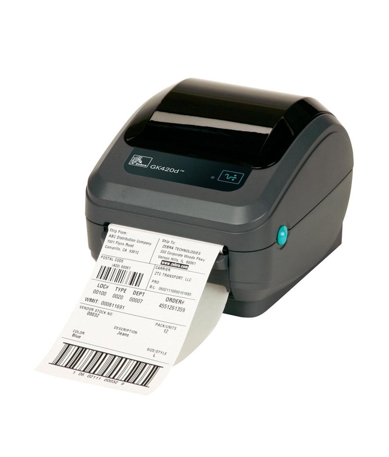 GK420d Direct Thermal Printer (203 dpi, EPL2, ZPL II, Serial and USB  Interfaces