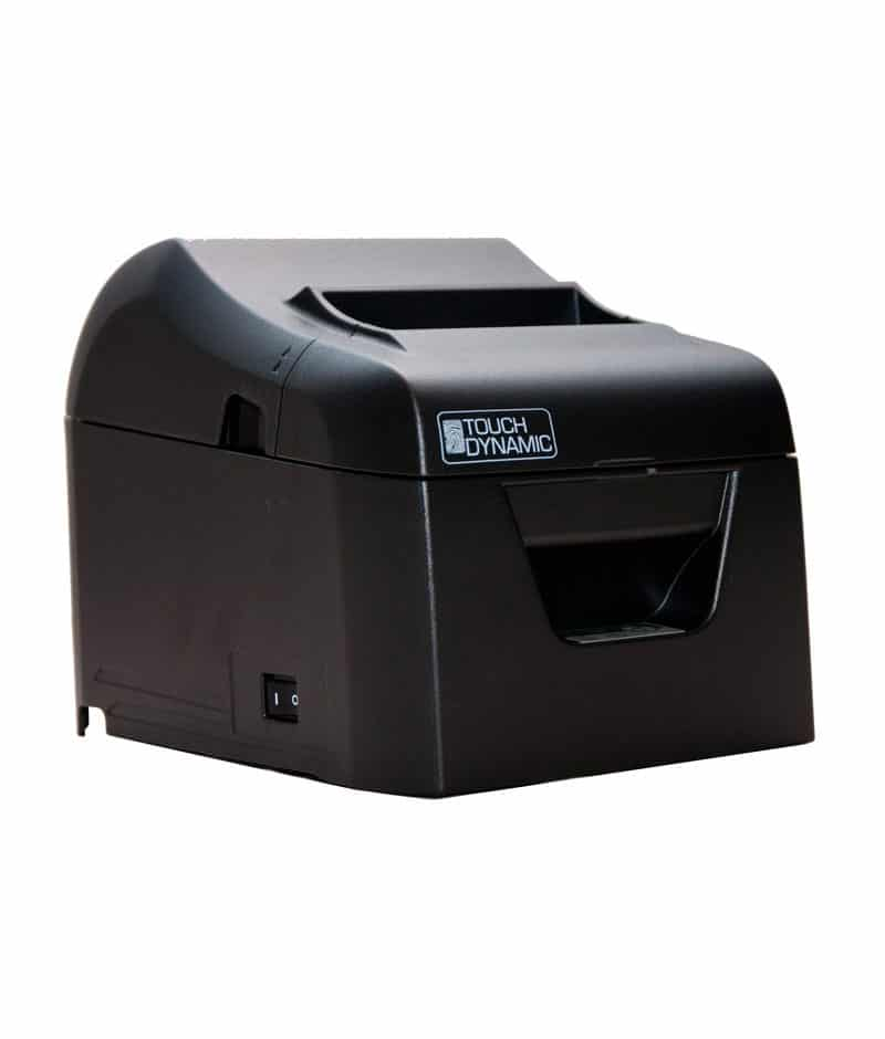 TOUCH DYNAMIC THERMAL PRINTER MODEL TB4, SERIAL & USB INTERFACE W/CABLES  AND POWER SUPPLY